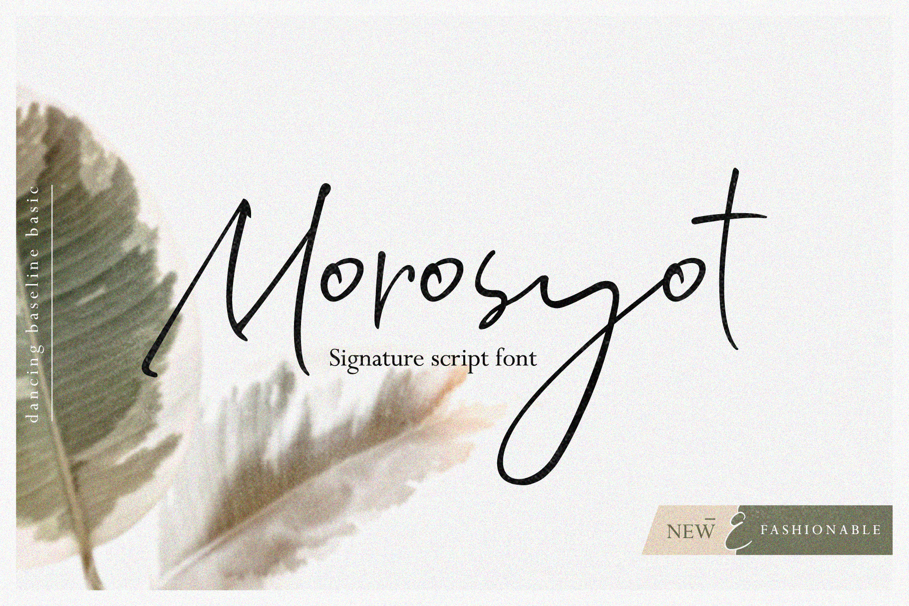 Morosyot Script Signature example image 1