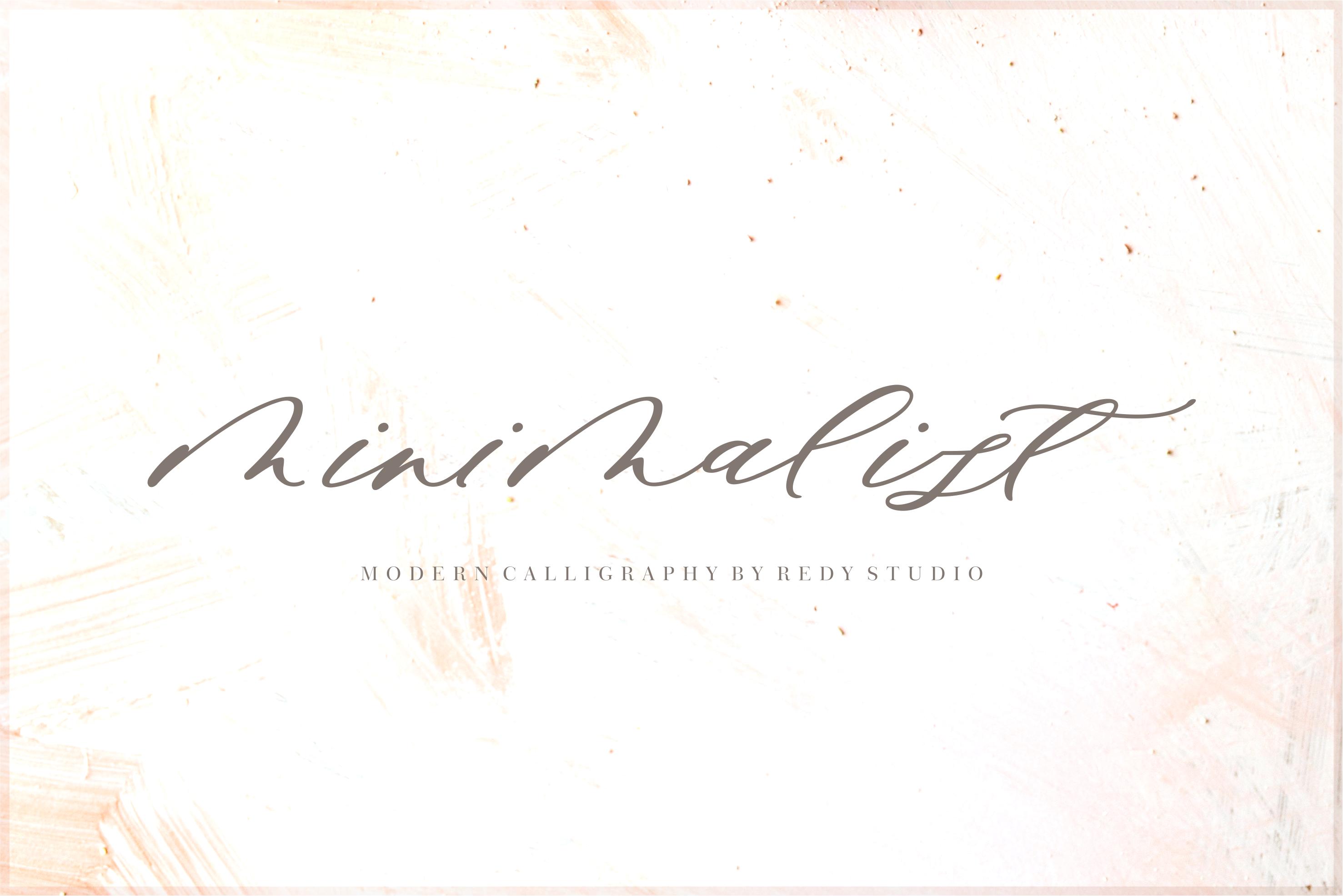 Minimalist Script Font example image 1