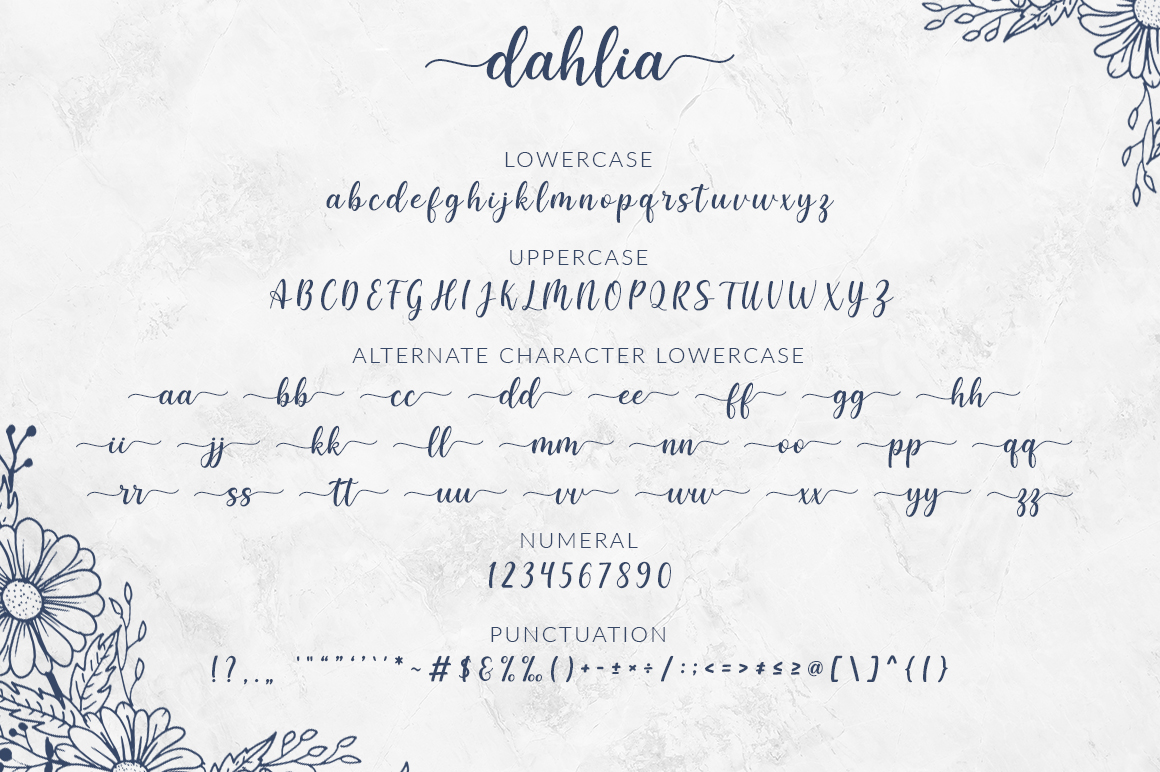 Dahlia Handlettering Font example image 8