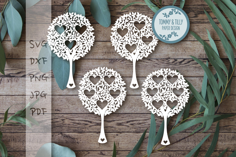 MEGA BUNDLE! Family Tree Cut Files - SVG | Papercut example image 14