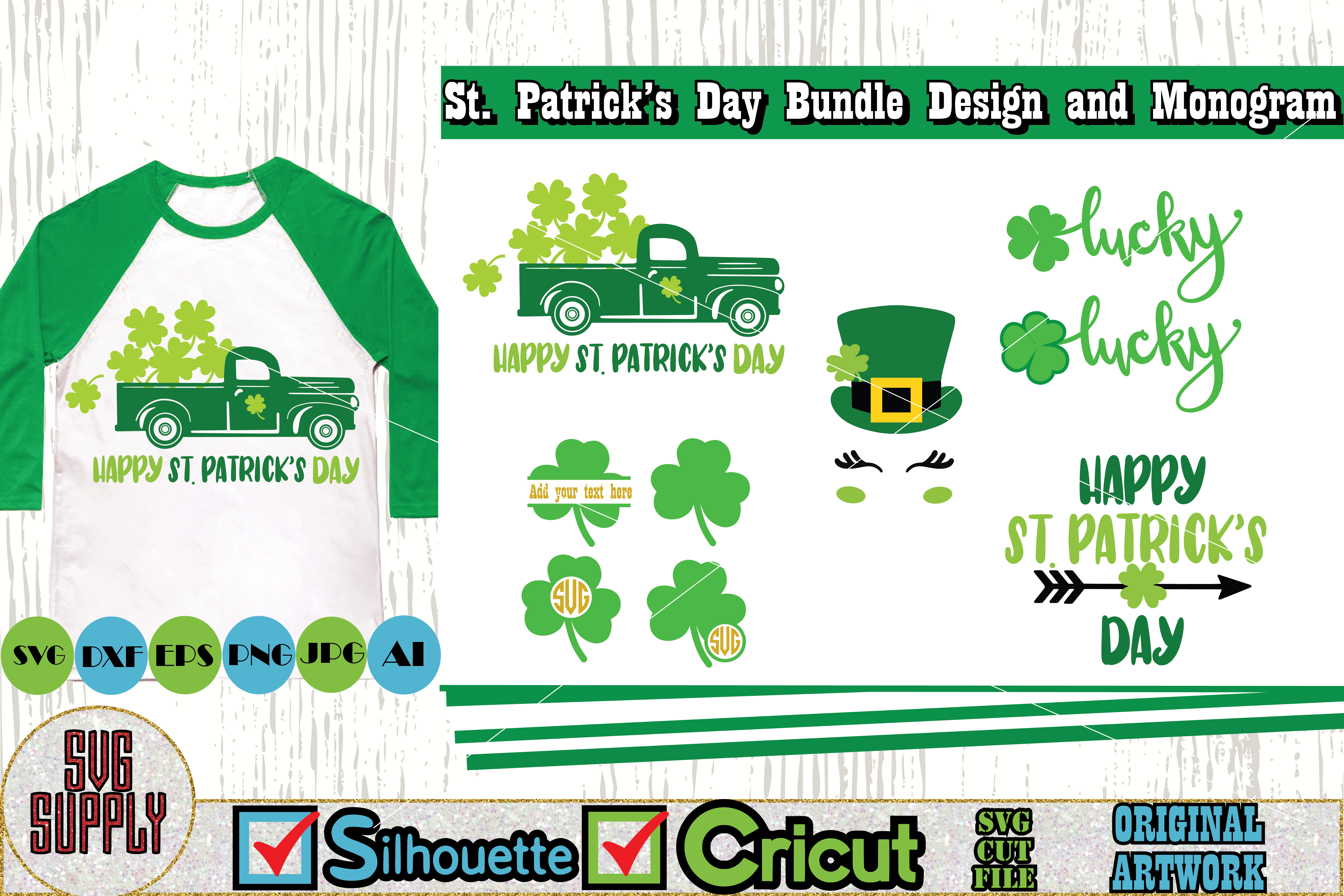 St. Patrick's Day SVG Cut File Set example image 1