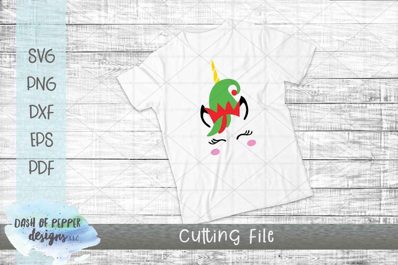 Elf Unicorn SVG - A Christmas SVG example image 2