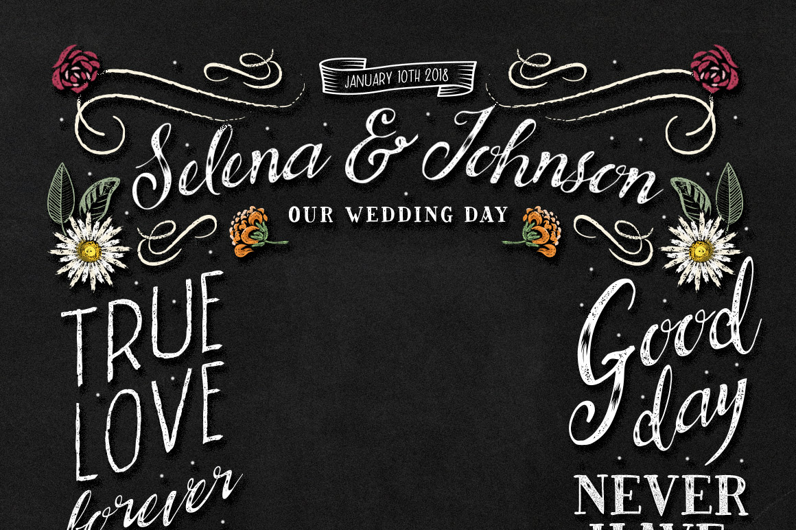 BrideChalk Typeface example image 8