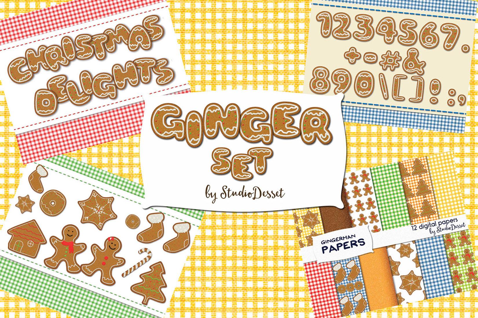 Gingerman Design Bundle - Letters, Numbers, Illustrations example image 2