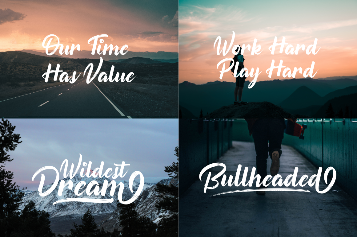 Button Shield Brush Font example image 8