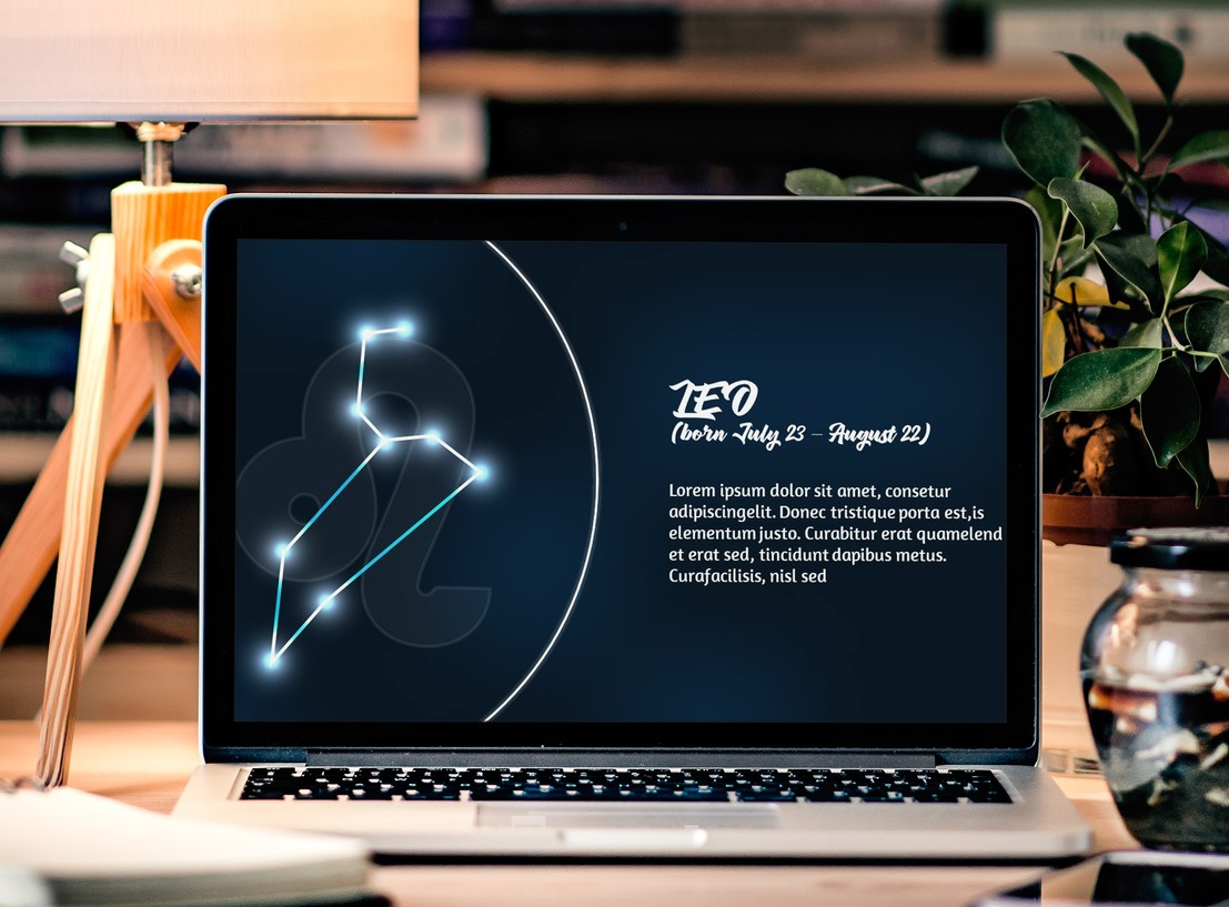 Zodiac Powerpoint Template Style 1 example image 2