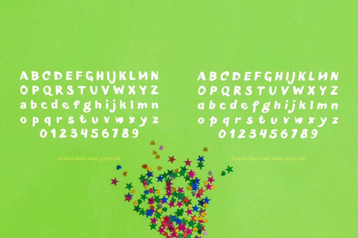 Blushes — Black & Black Italic example image 4