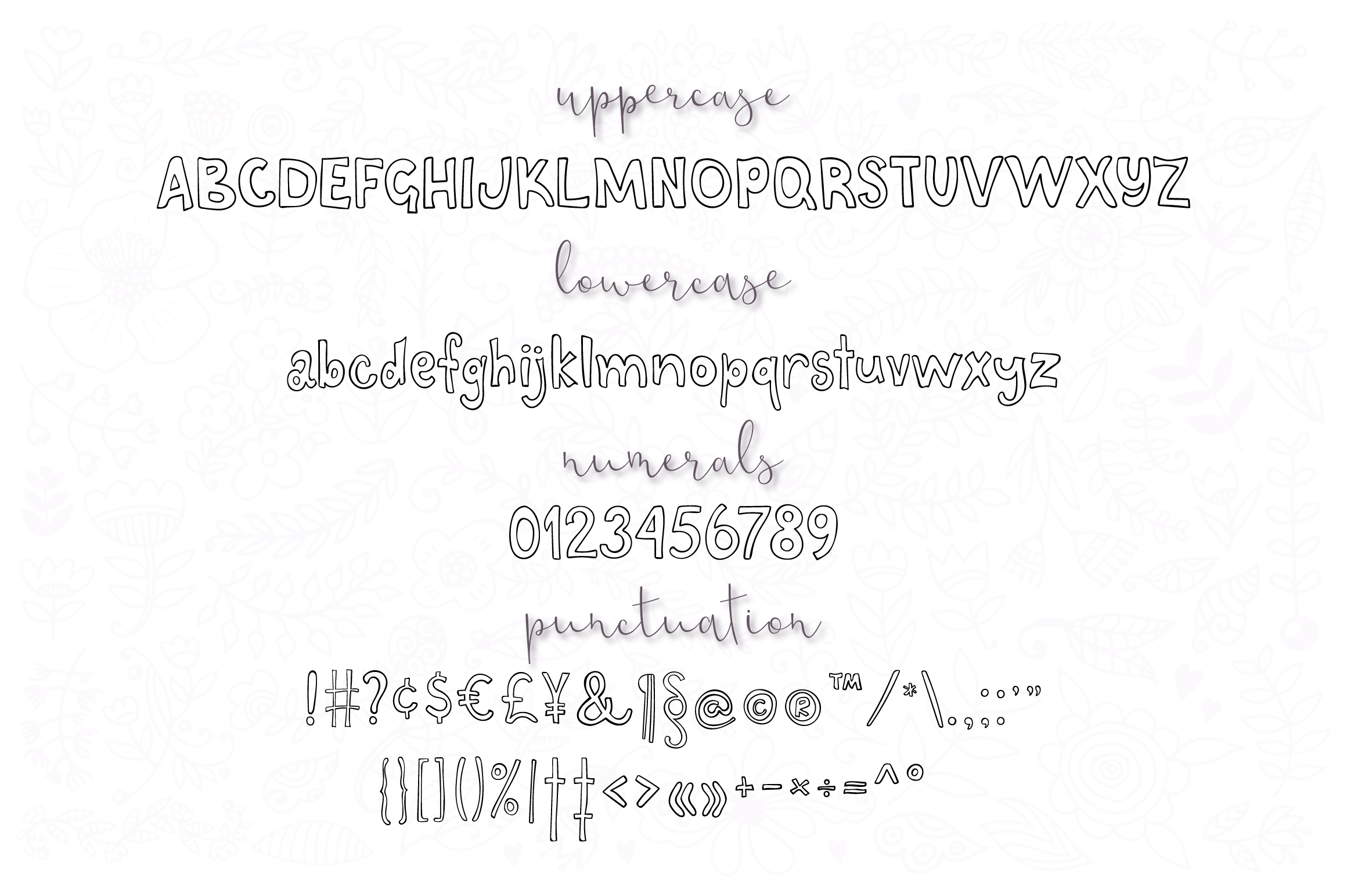 Riverbank - outline and black font family example image 3