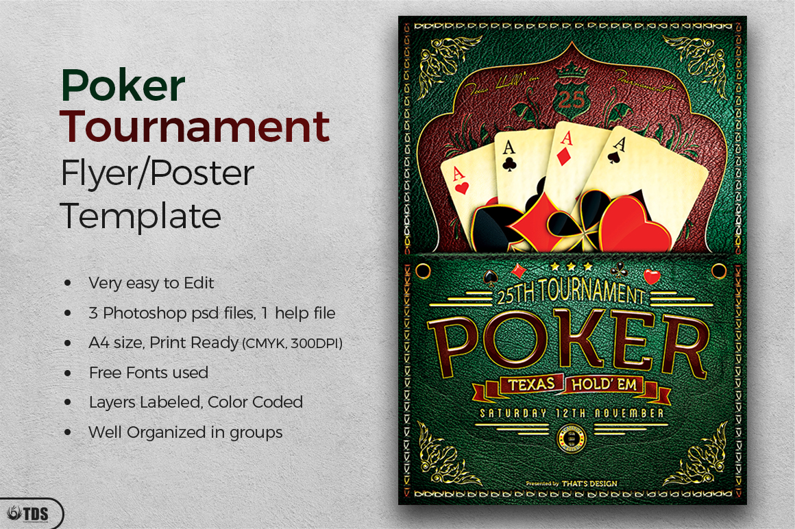 Poker Tournament Flyer Template example image 3