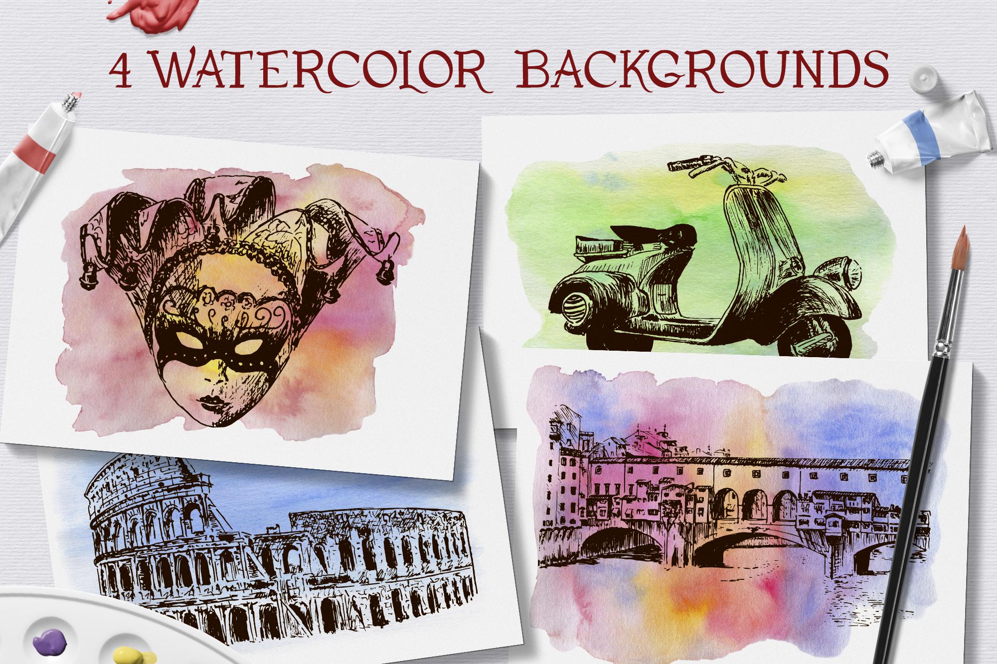 Italian sketches bundle example image 7