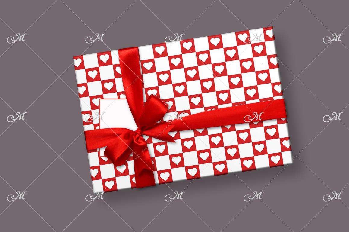 Smart Gift Box Mockup. Top view example image 2