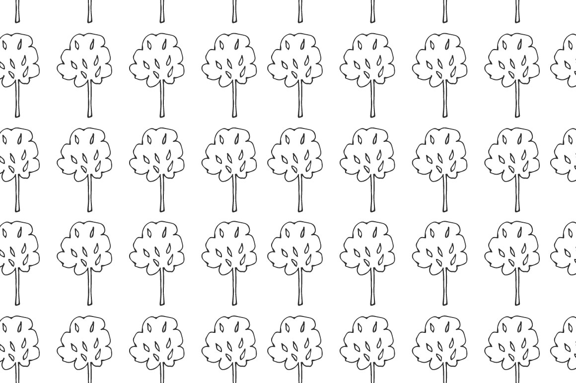 Trees pattern collection example image 8