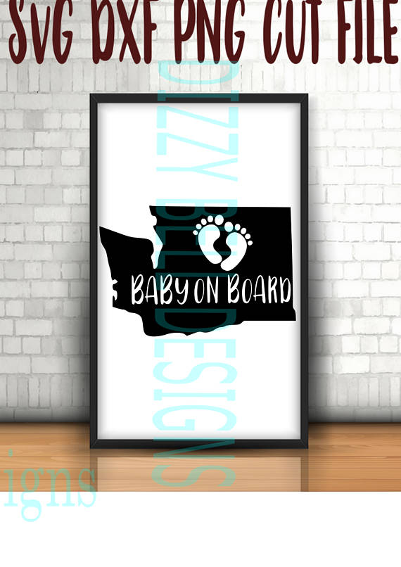 Born in Washington, Baby on Board, Baby feet, US Digital Instant Download, svg dxf png Cut Files, Military Kids, United States flag example image 1