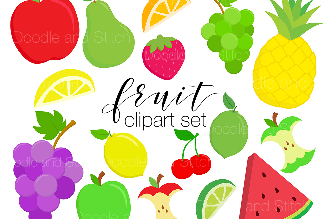 Fruit Clipart Illustrations example image 1