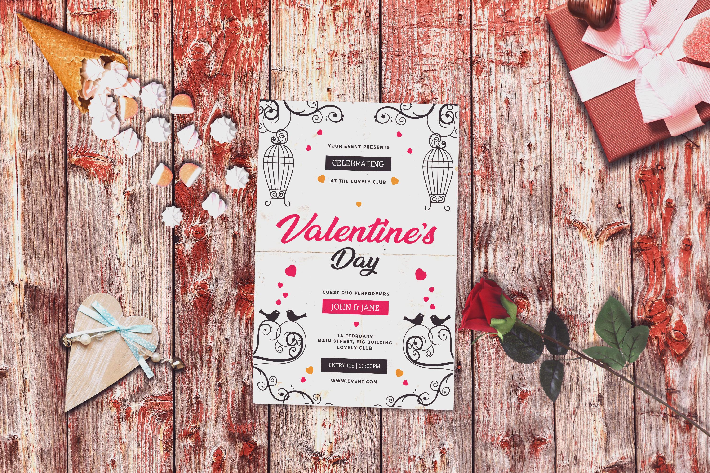 Valentine Invitation Card Mock-up #2 example image 1