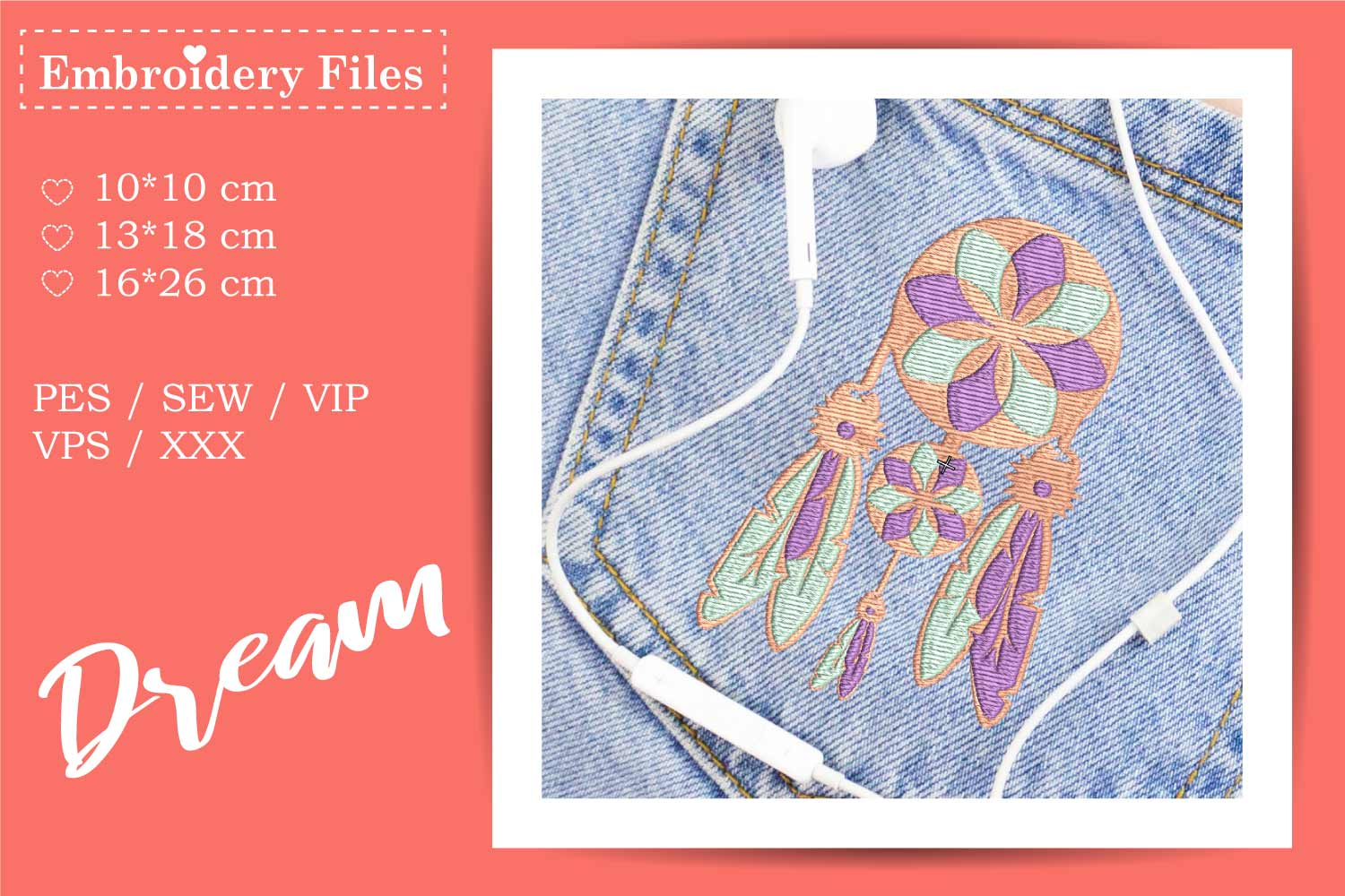 Dreamcatcher - Embroidery File for Beginners example image 3