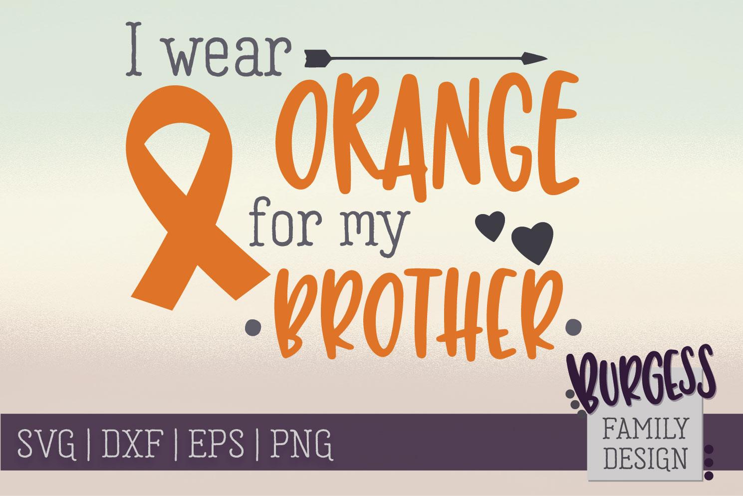 BUNDLE | I wear orange for my family | SVG DXF EPS PN example image 4
