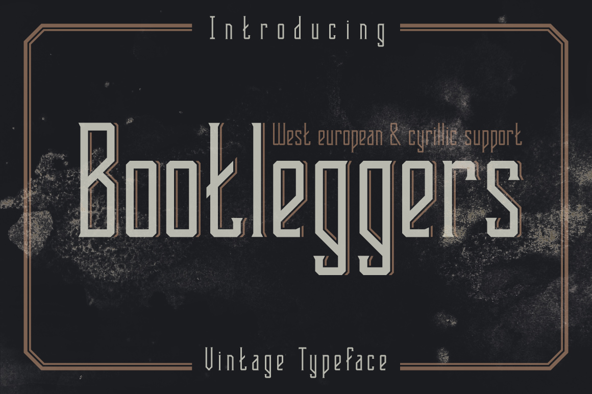 Bootleggers font example image 1