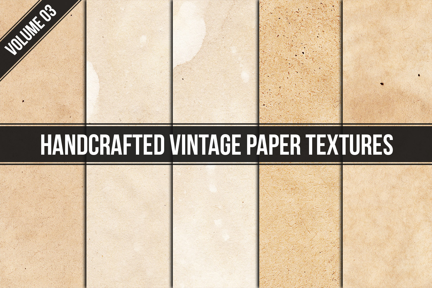 Handcrafted Vintage Paper Textures Vol. 03 example image 1