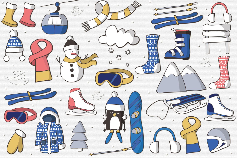 Winter Skiing example image 2