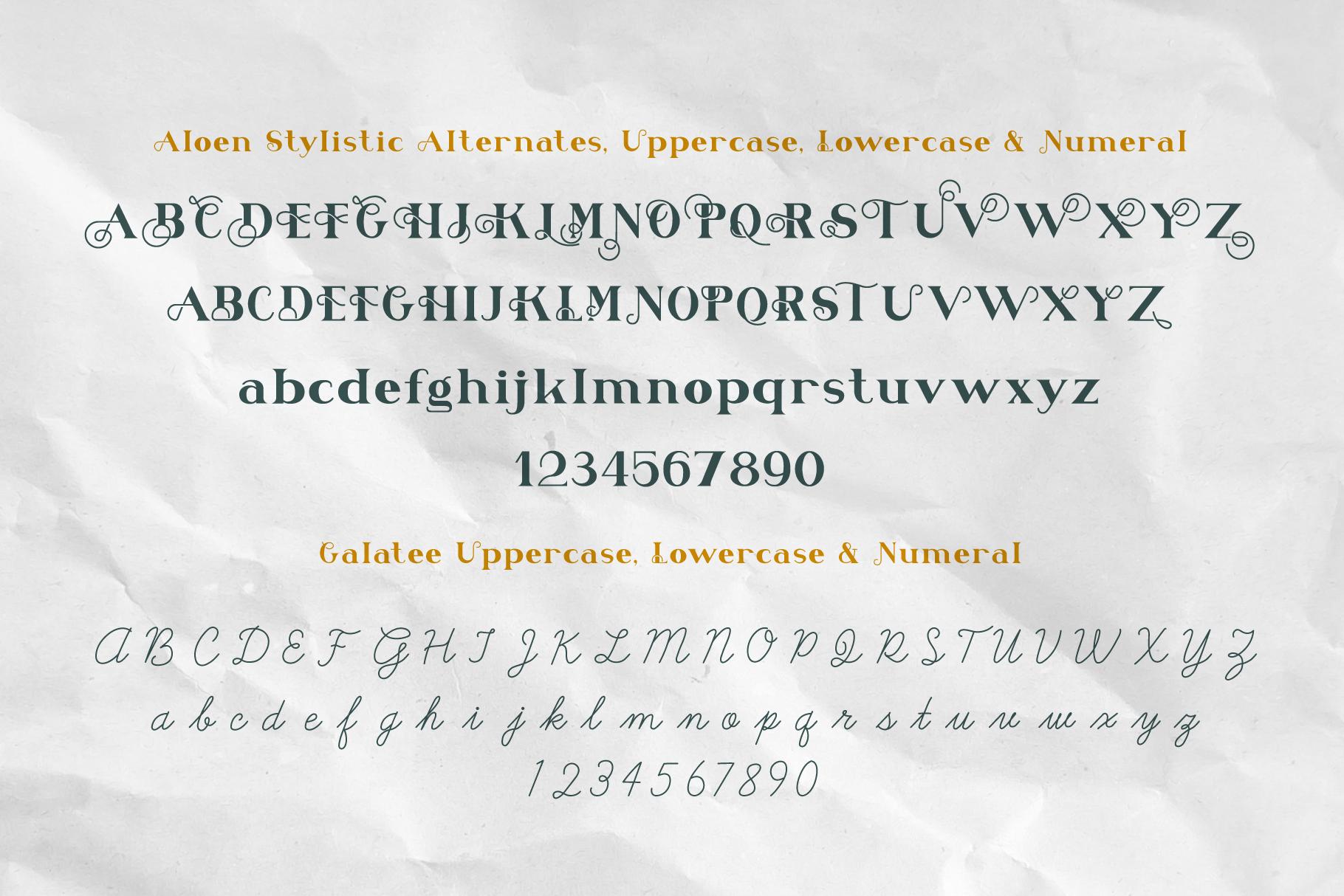 Aloen Font Duo & Extras example image 3