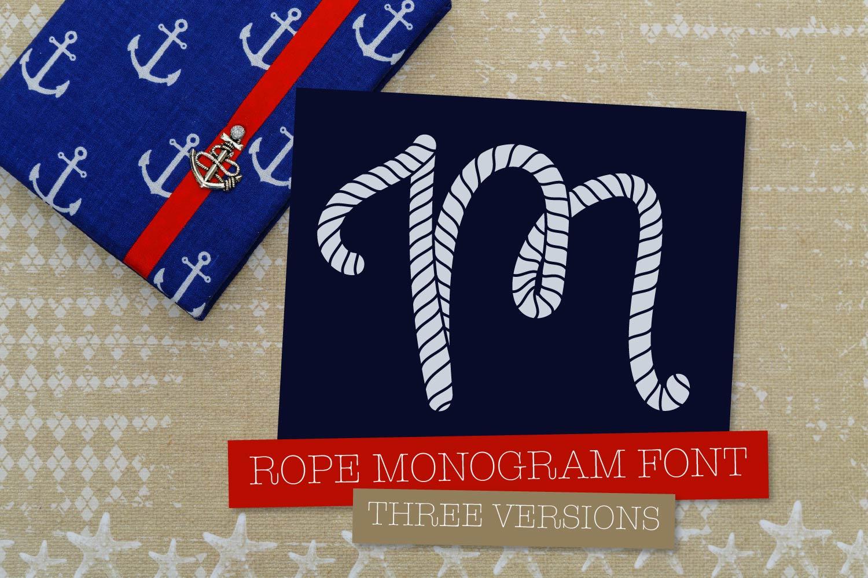 Rope Monogram - A Monogram Letter Trio! example image 7