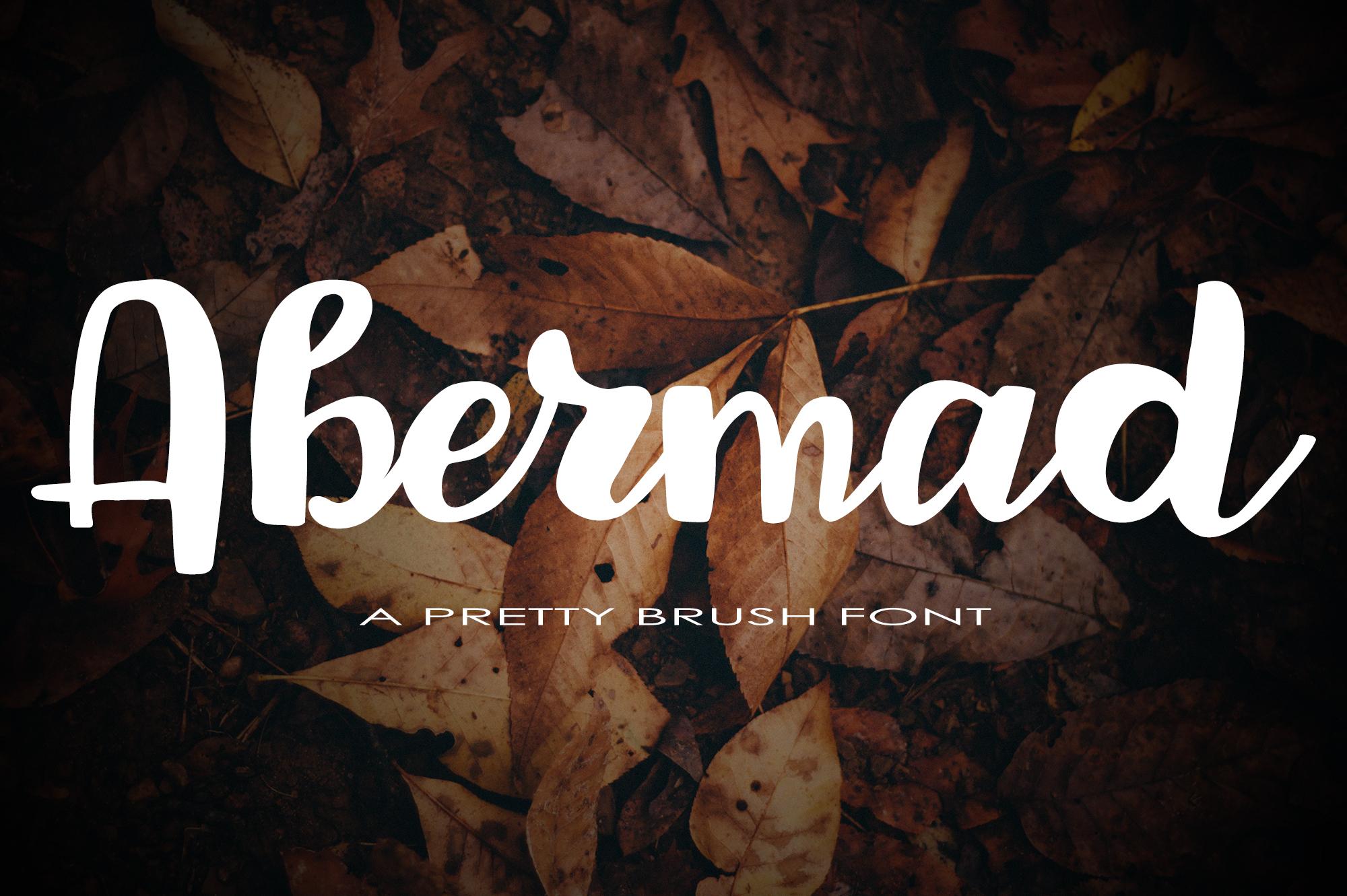 Abermad - brush font example image 1
