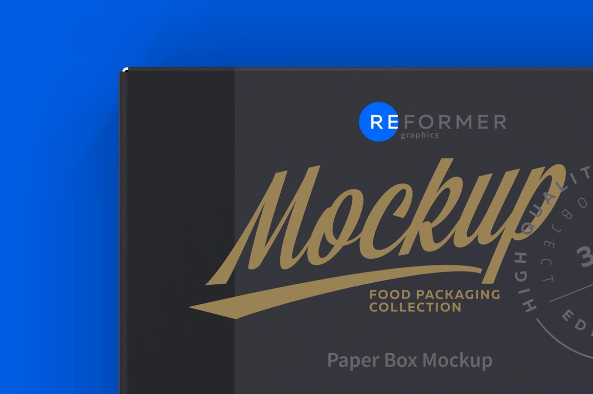 Paper Box Mockup Top View example image 5