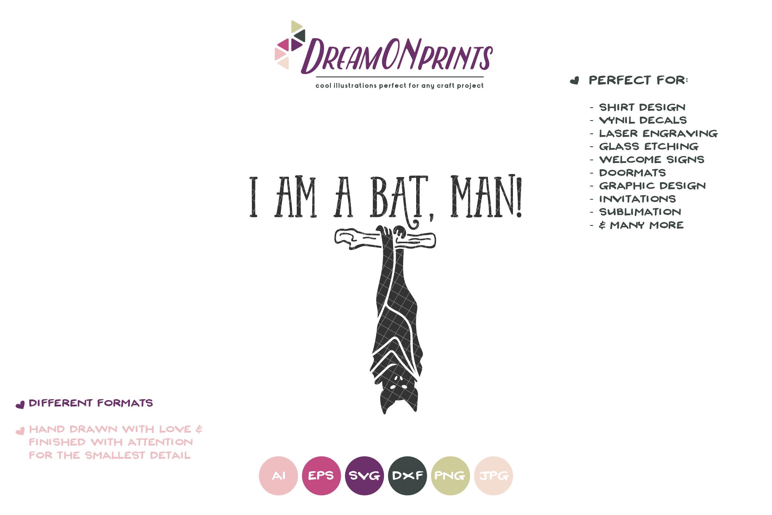 Funny Halloween Bat SVG | Funny Kids SVG | I Am a Bat, Man example image 2