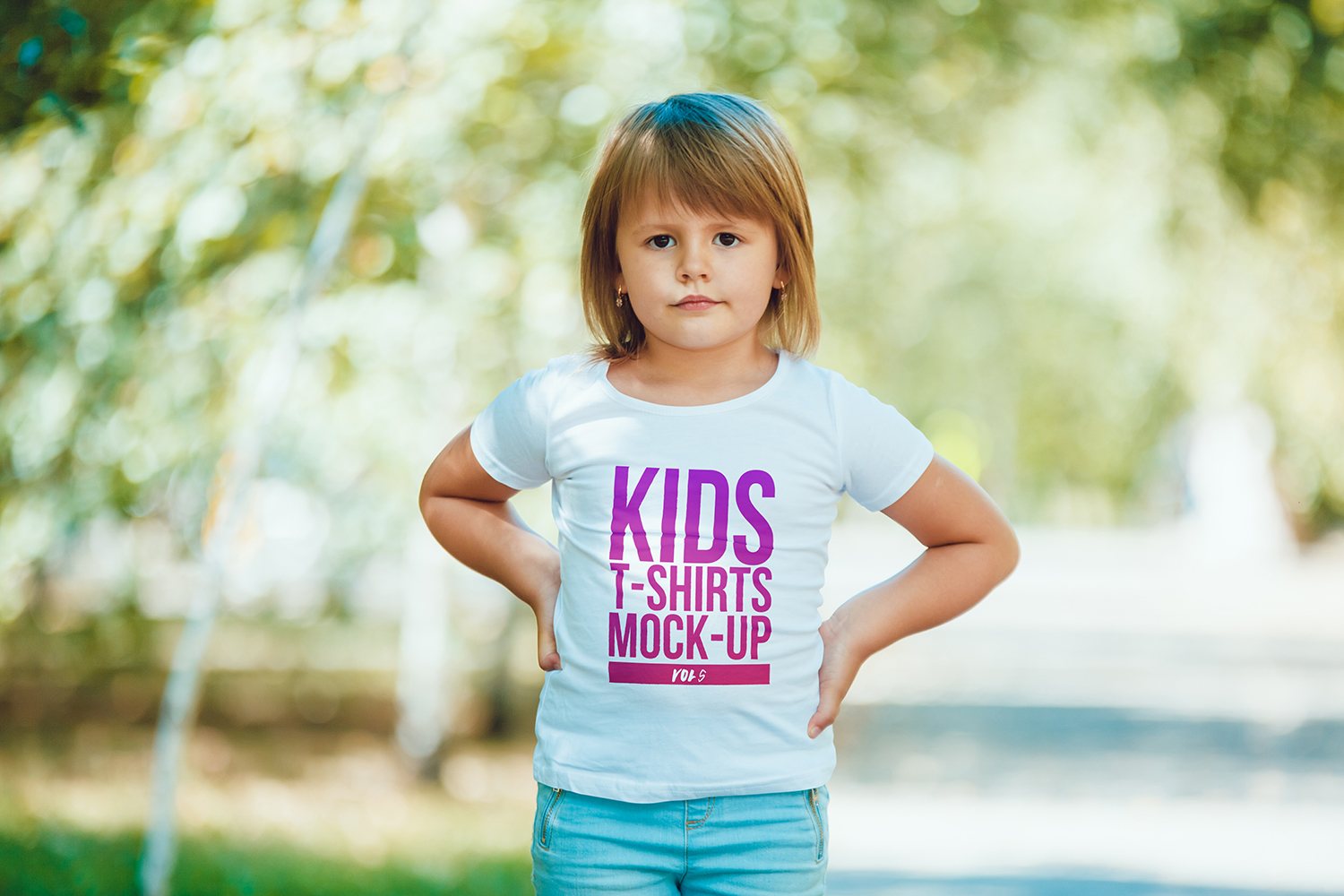 Kids T-Shirt Mock-Up Vol 5 example image 7