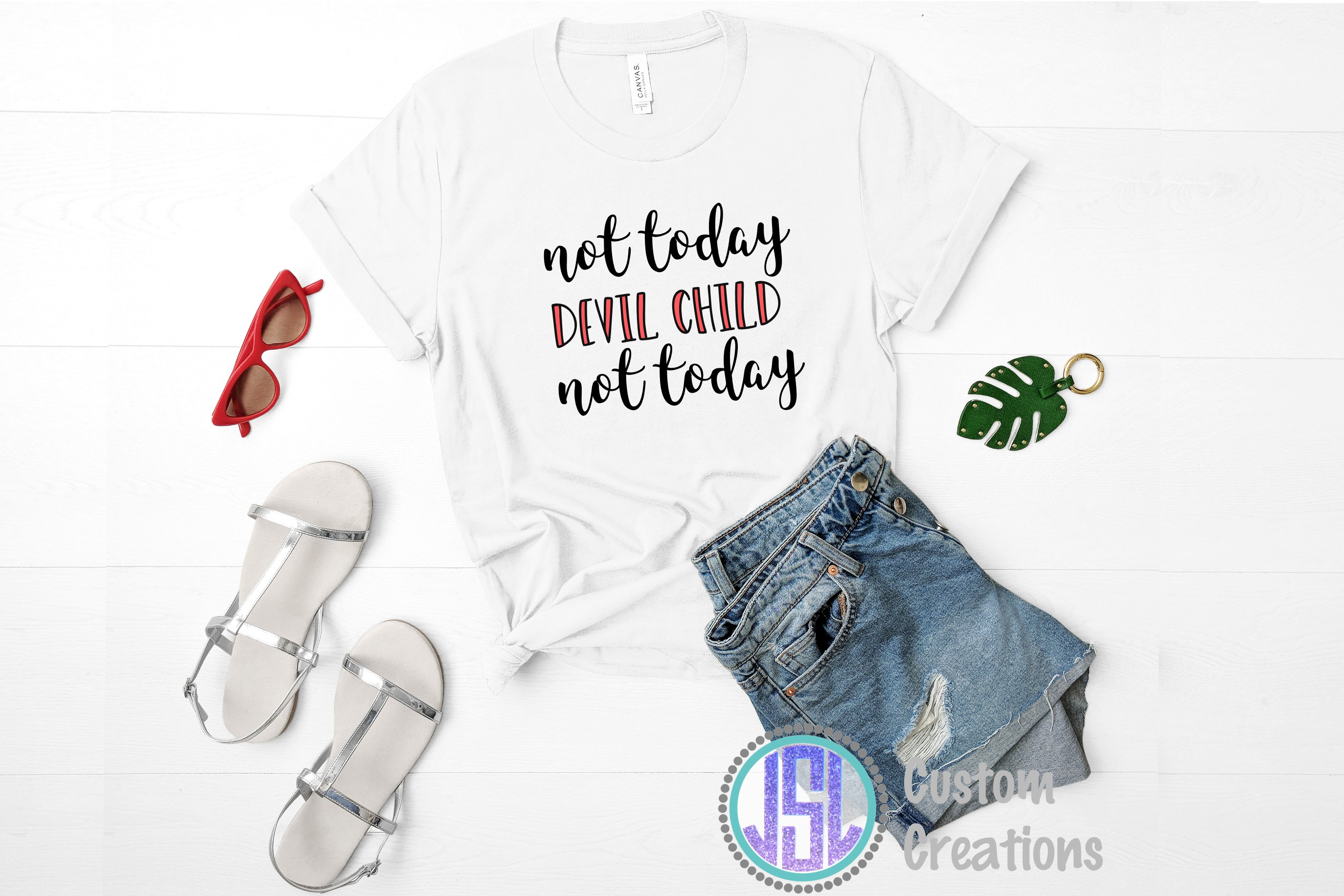 Not Today Devil Child| SVG DXF EPS PNG Digital Cut File example image 2