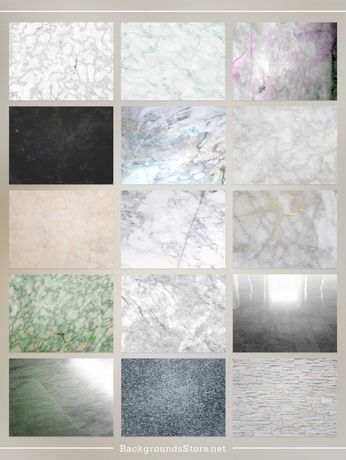 Marble Textures Set example image 3