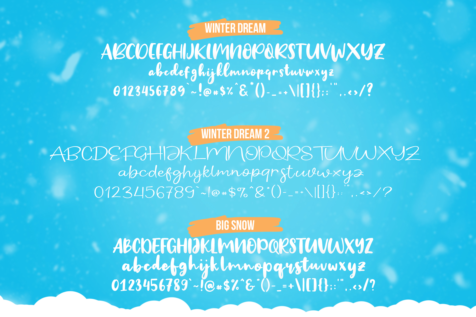 Winter Dream Trio Font example image 9