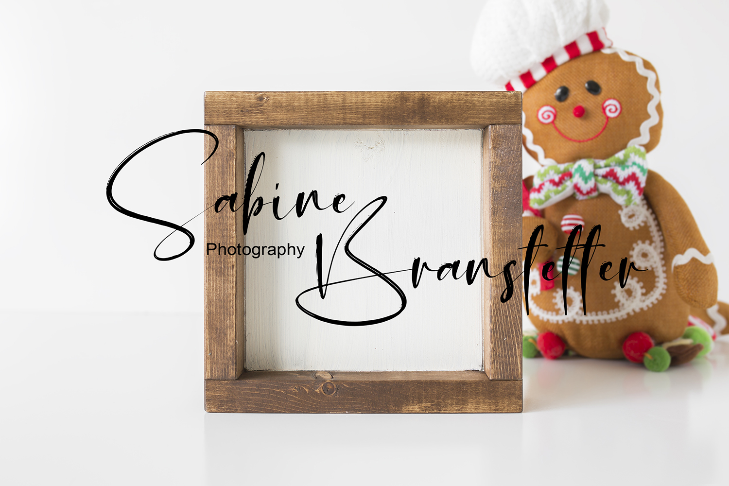 Styled Stock Photography Rustic Wood Sign Chrismtas Mockup example image 1