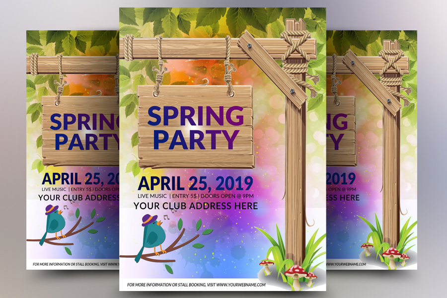 Spring Party Flyer example image 1