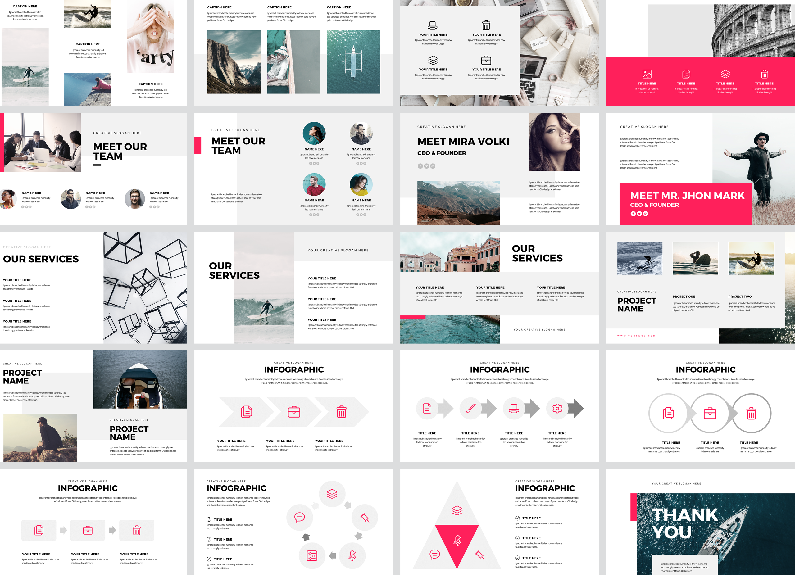 Bhomra Minimal Powerpoint Presentation Template example image 3