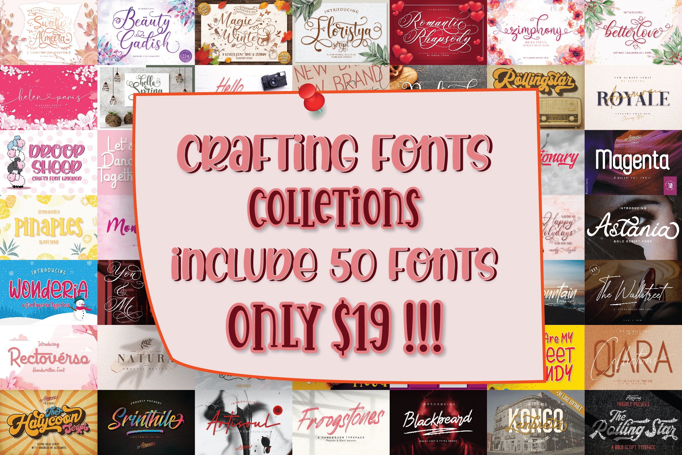 CRAFTING FONT COLLECTIONS - BUNDLE example image 22