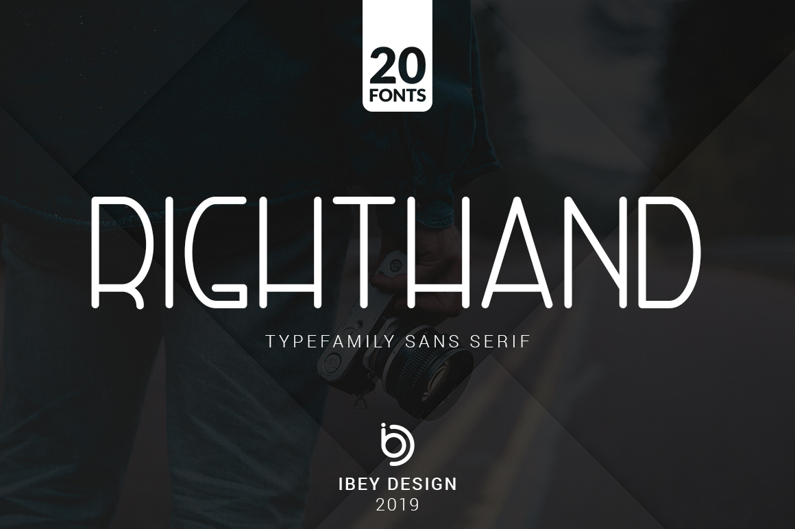 RightHand - 20 Fonts Included example image 1