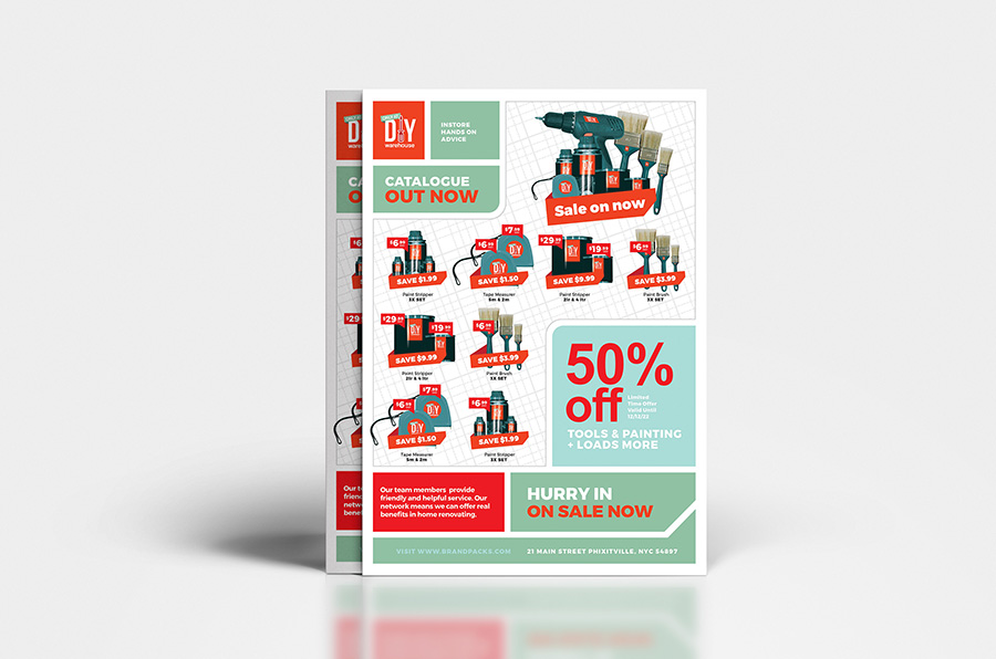A4 DIY Tool Supply Advertisement Template example image 4