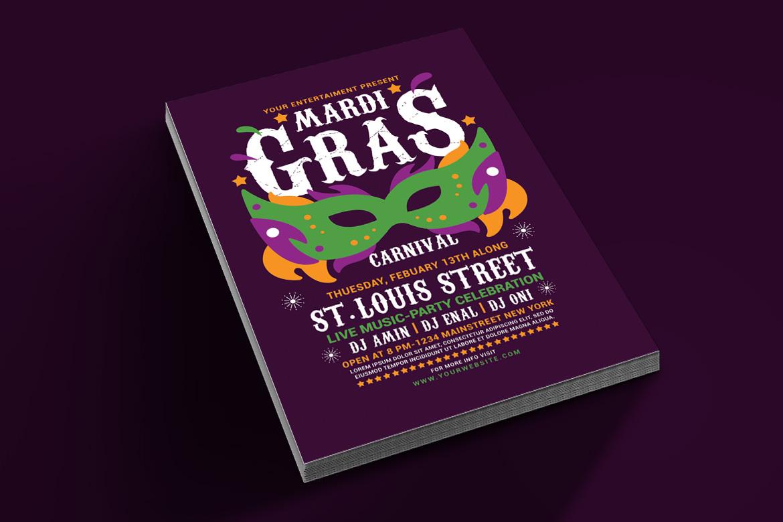 Mardi Gras Flyer Template example image 4