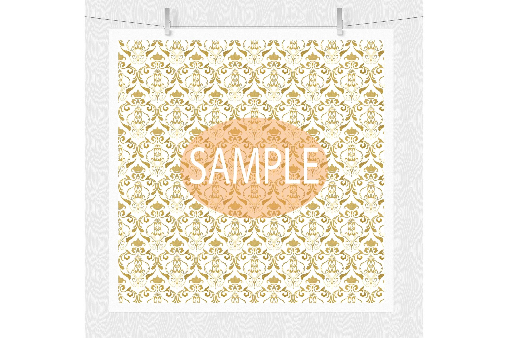 Gold Digital Paper example image 4