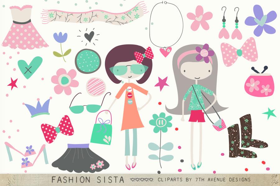 Fashion Sista Cliparts example image 1