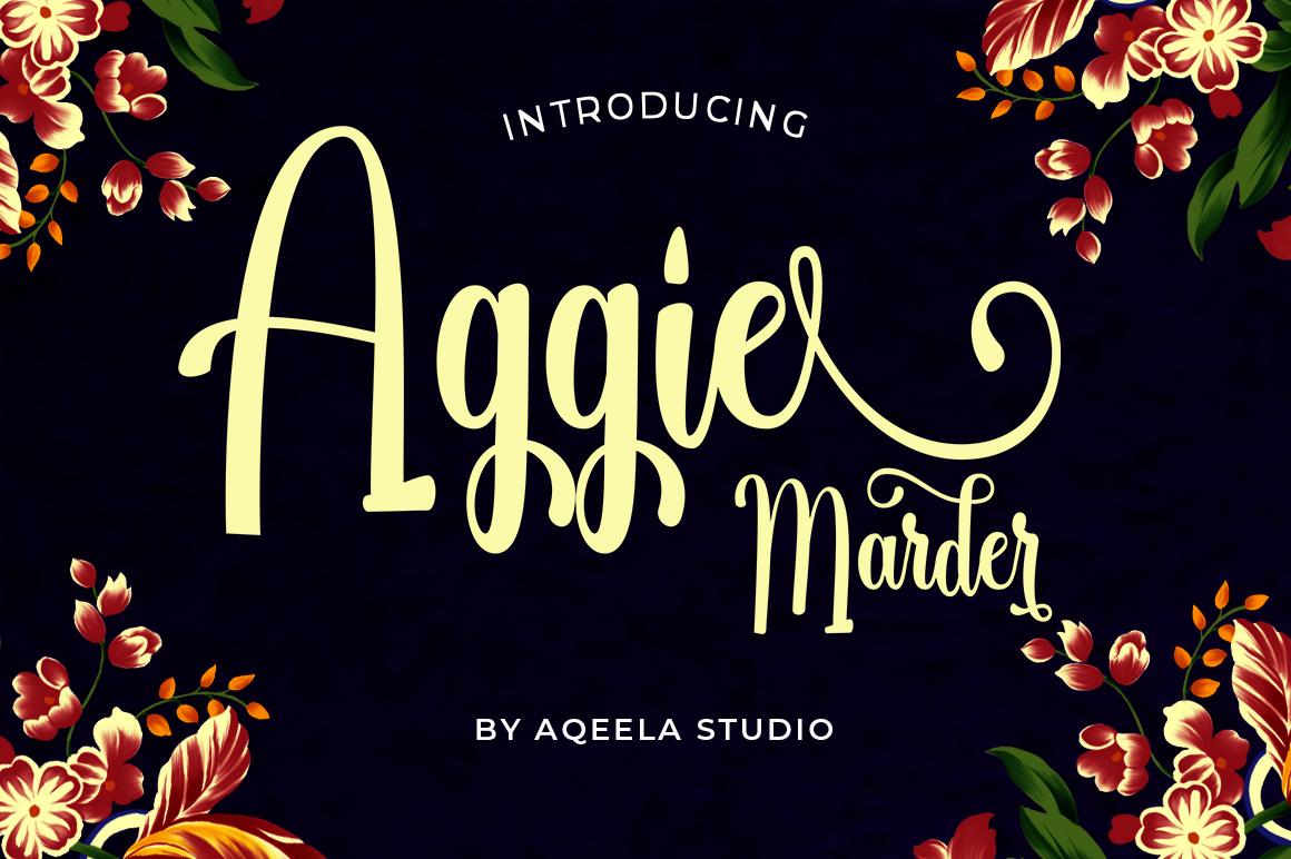 Aggie Marder Script example image 1