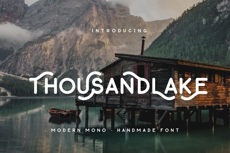 Thousand Lake - Handmade Font example image 1