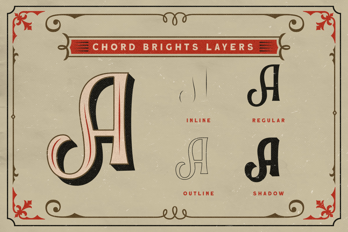 Chord Brights - A Layered Typeface example image 2