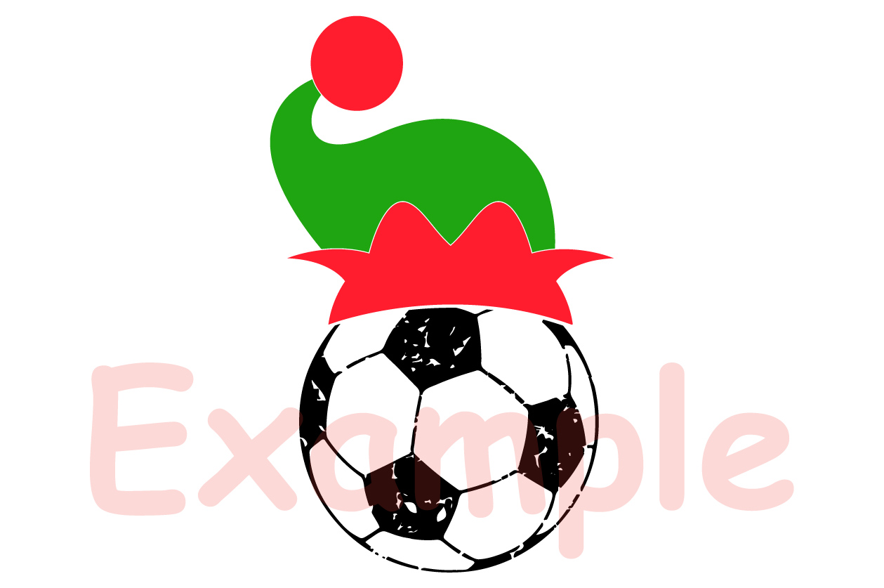 Soccer Christmas Hat svg Elf sweater tackle santa 1050s example image 3