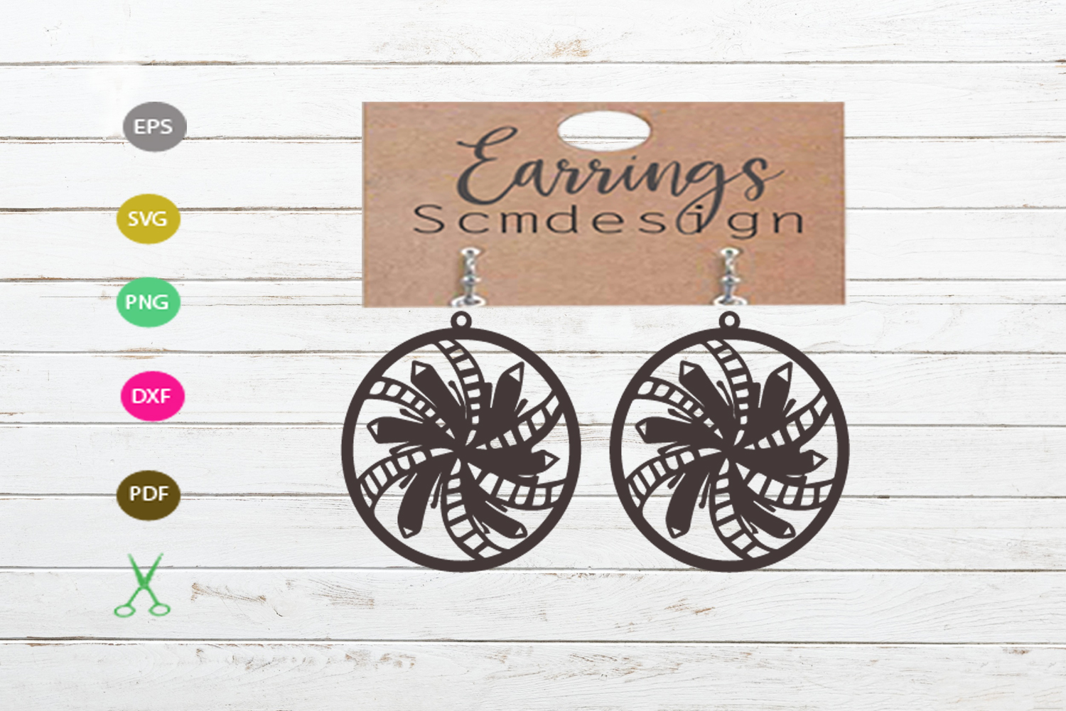 Earrings SVG,earrings template earrings cut file, earrings example image 1
