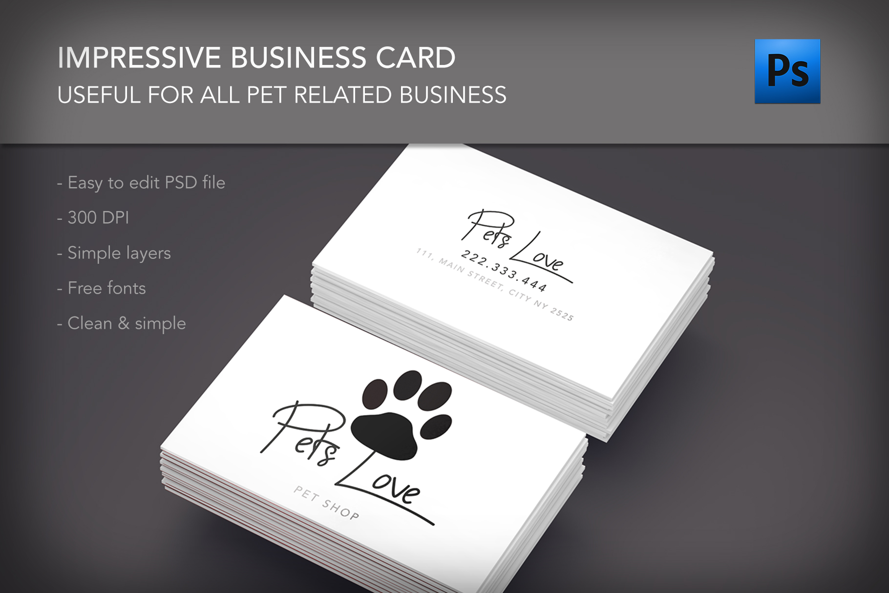 Pet lovers shop clinic business card by design bundles pet lovers shop clinic business card example image 1 colourmoves