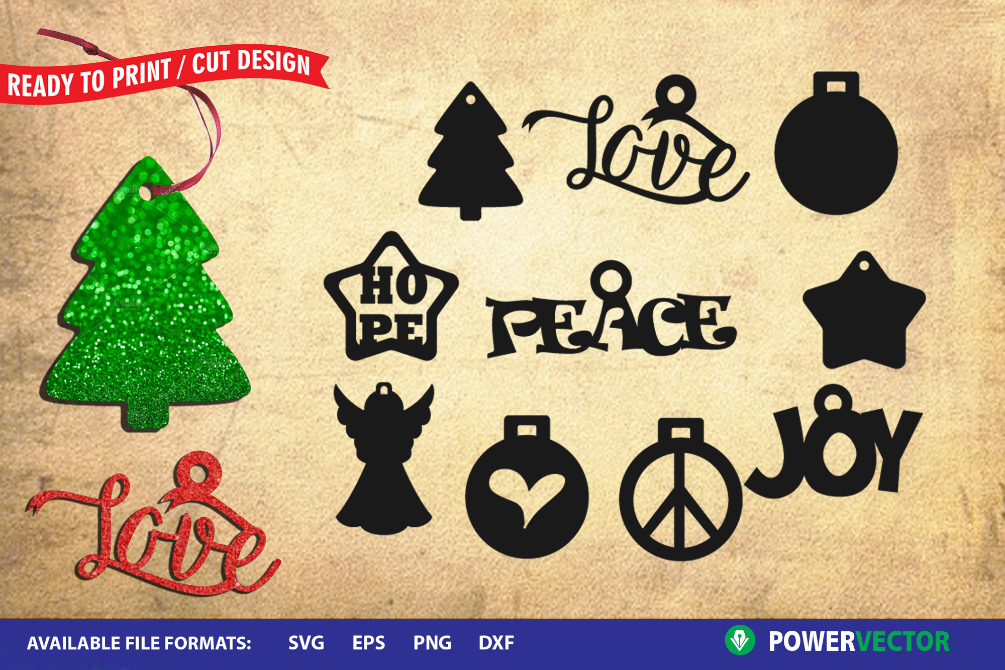 Christmas Ornaments SVG Cut Files example image 1