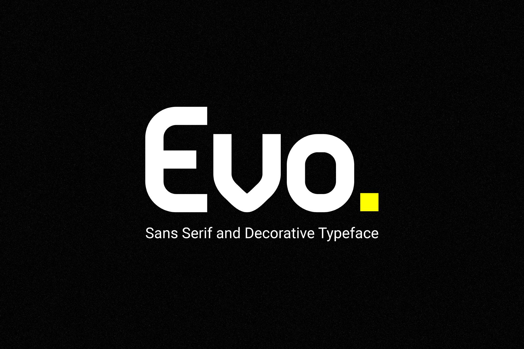Evo - Sans&Decorative Typeface example image 1